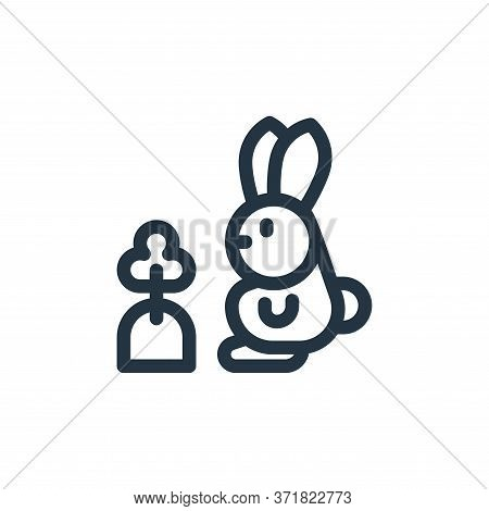 rabbit icon isolated on white background from  collection. rabbit icon trendy and modern rabbit symb