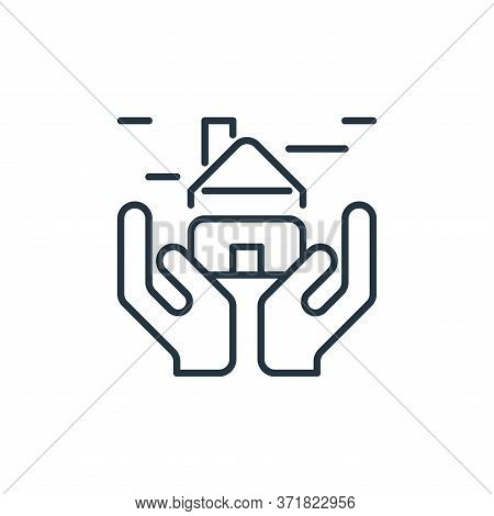 home insurance icon isolated on white background from  collection. home insurance icon trendy and mo