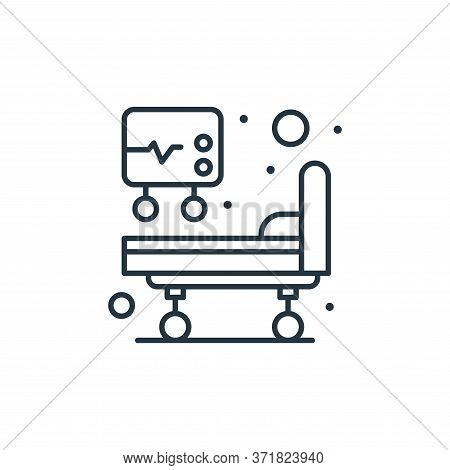 hospital bed icon isolated on white background from  collection. hospital bed icon trendy and modern