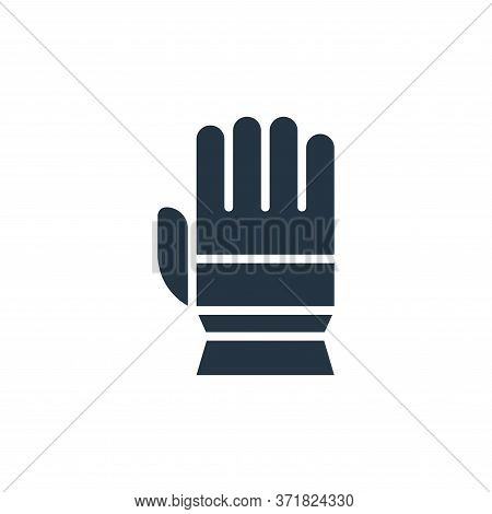 glove icon isolated on white background from  collection. glove icon trendy and modern glove symbol