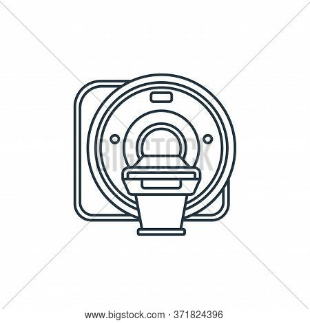CT scan icon isolated on white background from  collection. CT scan icon trendy and modern CT scan s
