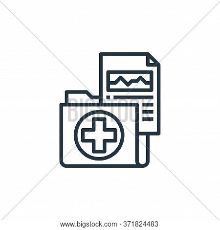 medical result icon isolated on white background from  collection. medical result icon trendy and mo