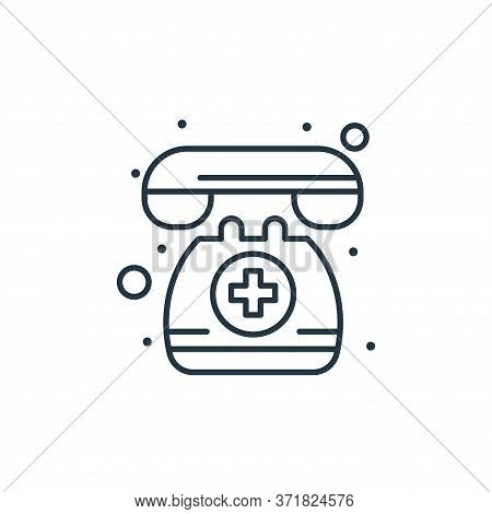 emergency call icon isolated on white background from  collection. emergency call icon trendy and mo