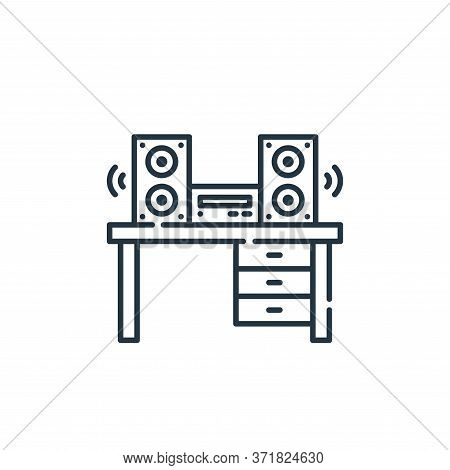 sound system icon isolated on white background from  collection. sound system icon trendy and modern