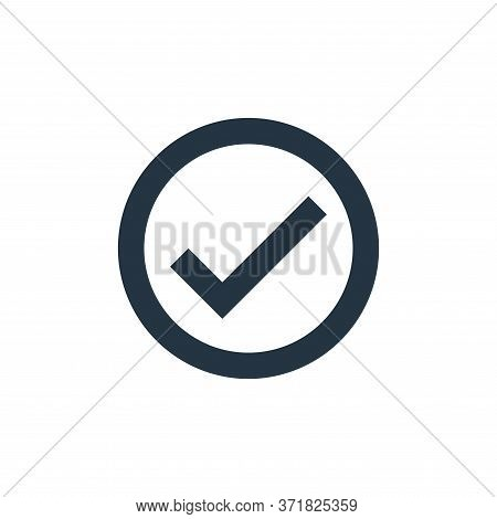 check mark icon isolated on white background from  collection. check mark icon trendy and modern che