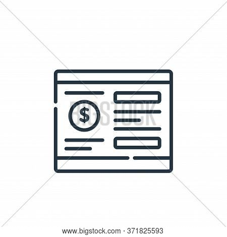 bank account icon isolated on white background from  collection. bank account icon trendy and modern