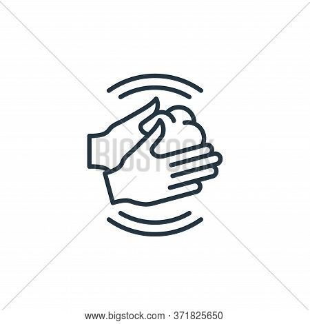 hand washing icon isolated on white background from  collection. hand washing icon trendy and modern