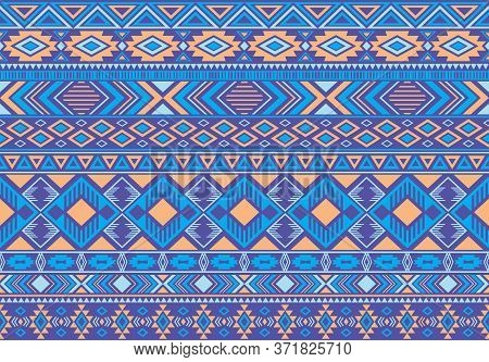 Ikat Pattern Tribal Ethnic Motifs Geometric Seamless Vector Background. Trendy Ikat Tribal Motifs Cl