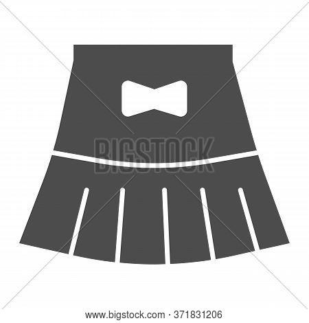 Miniskirt Solid Icon, Summer Clothes Concept, Girl Mini Skirt Sign On White Background, Short Skirt