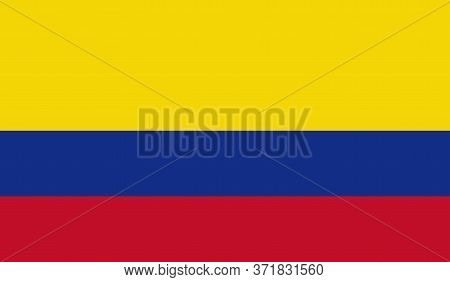 Colombian Flag, Official Colors And Proportion Correctly. National Colombian Flag. Vector Illustrati