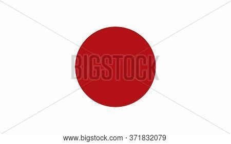 Japanese Flag, Official Colors And Proportion Correctly. National Japanese Flag. Vector Illustration