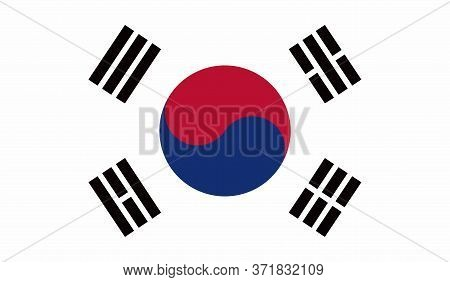 South Korea Flag, Official Colors And Proportion Correctly. National South Korea Flag. Vector Illust