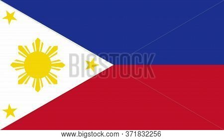 Philippine Flag, Official Colors And Proportion Correctly. National Philippine Flag. Vector Illustra