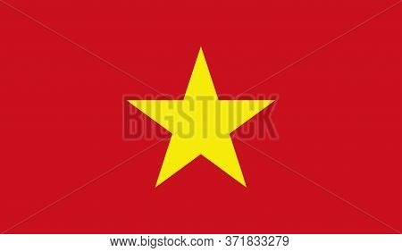 Vietnamese Flag, Official Colors And Proportion Correctly. National Vietnamese Flag. Vector Illustra