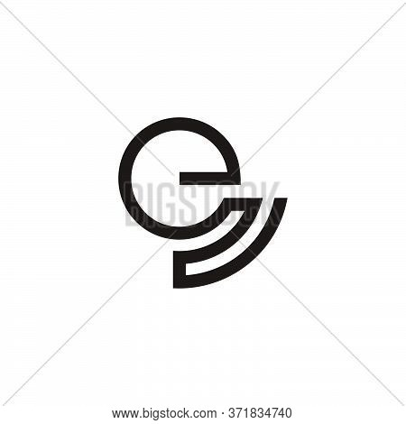 Abstract Letter En Stripes Geometric Line Symbol Logo Vector