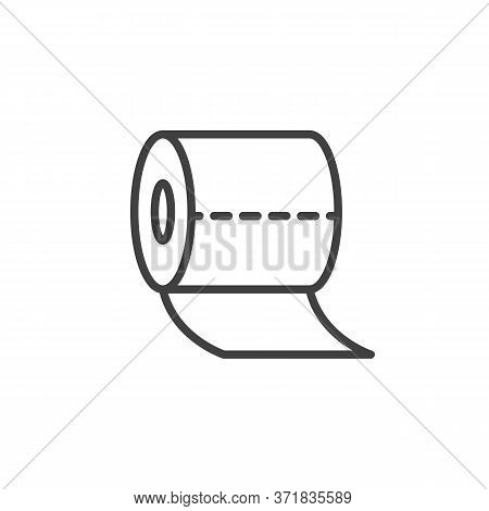 Toilet Paper Roll Line Icon. Linear Style Sign For Mobile Concept And Web Design. Tissue Paper Outli
