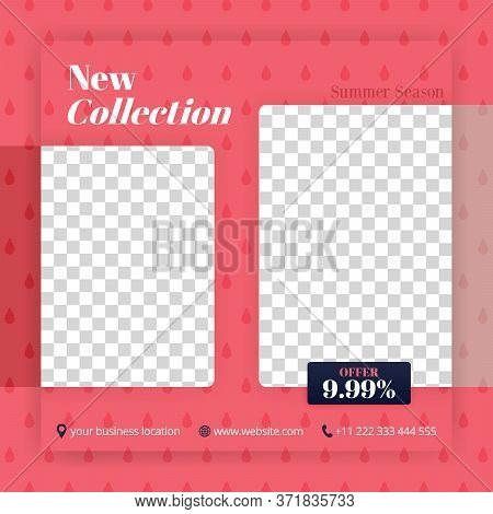 Collection And Offer Of New Fashions In Social Media Post. Can Be Used For Website Ads, Landing Page