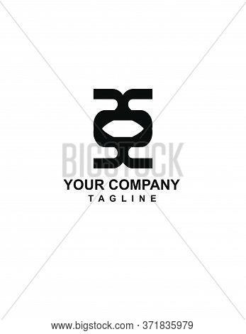 Xox, Tot, Ott Eye Shape Initials Geometrical Logo And Vector Icon