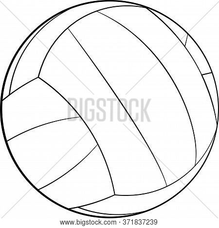 Volleyball Icon. Flat Vector Illustration Of Volleyball For Web Design, Logo, Icon, App, Ui. Isolate
