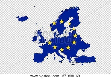 Europe Map With Flag On Png Or Transparent   Background,illustration,textured , Symbols Of Europe,ve