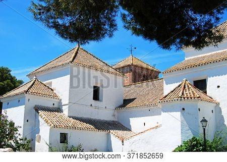 View Of The Church Of The Immaculate Conception, Paseo De La Muralla, Mijas, Malaga Province; Spain,
