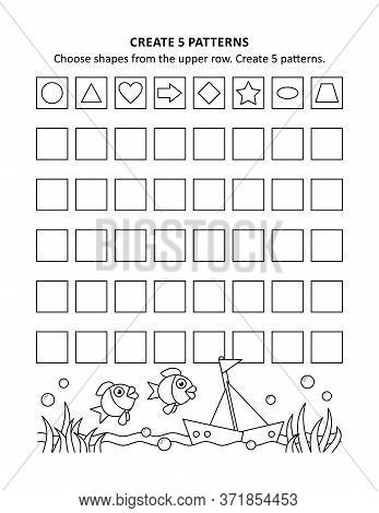 Educational Math Activity Sheet And Coloring Page For Kids To Learn And Practice Basic Skills Of Rec