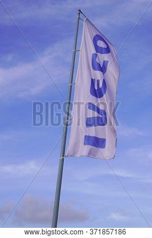 Bordeaux , Aquitaine / France - 11 19 2019 : Iveco Sign Logo Flag Shop Dealership Van Truck Bus Stor