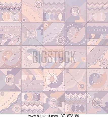 Pink Colored Background Image Abstract Ornament Figures