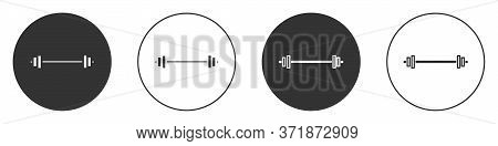 Black Barbell Icon Isolated On White Background. Muscle Lifting Icon, Fitness Barbell, Gym, Sports E