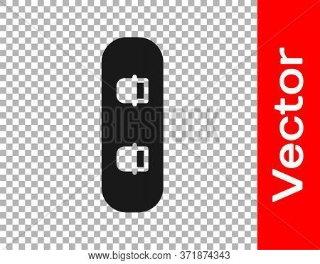 Black Snowboard Icon Isolated On Transparent Background. Snowboarding Board Icon. Extreme Sport. Spo