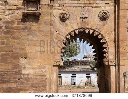 Gwalior, Madhya Pradesh/india : March 15, 2020 - Design Of Entrance Gate Of Gwalior Fort