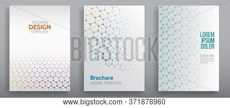 Аbstract Futuristic Background With Hexagons And Hi-tech Elements. Vector Technology Templates For C