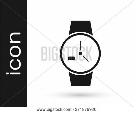 Grey Wrist Watch Icon Isolated On White Background. Wristwatch Icon. Vector