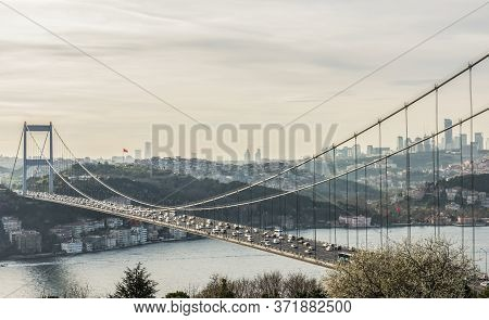 View Of The Istanbul Bosphorus From Otagtepe.