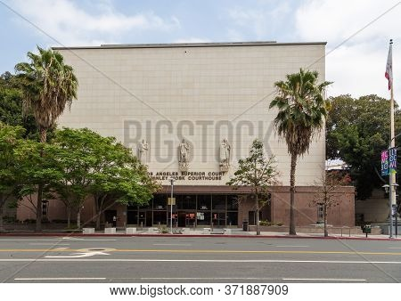 Los Angeles, California, Usa- 11 June 2015: View Of The Los Angeles Superior Court Stanley Mosk Cour