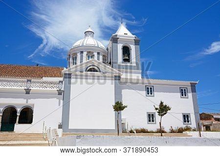 View Of Sao Tiago Parish Church Also Known As Castro Marim Mother Church, Castro Marim, Algarve, Por