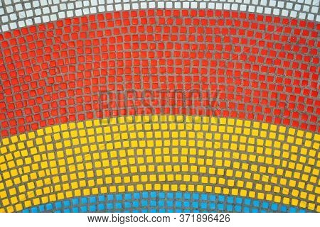 White, Red, Yellow, Blue Pano. Patterns Of The Mosaic