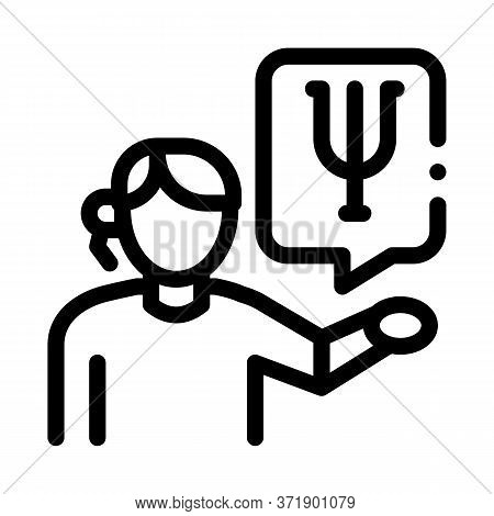 Representative Of Field Of Psychology Icon Vector. Representative Of Field Of Psychology Sign. Isola