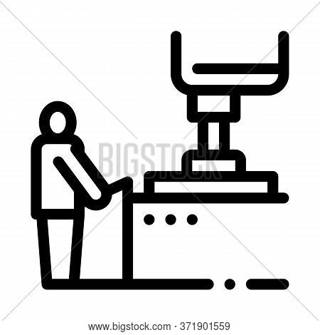 Glass Making Icon Vector. Glass Making Sign. Isolated Contour Symbol Illustration