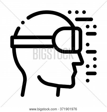 Projecting Reality Through Special Glasses Icon Vector. Projecting Reality Through Special Glasses S