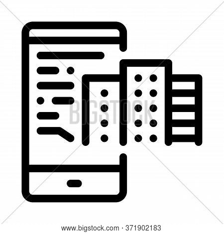 Telephone Mode Of Reality Icon Vector. Telephone Mode Of Reality Sign. Isolated Contour Symbol Illus