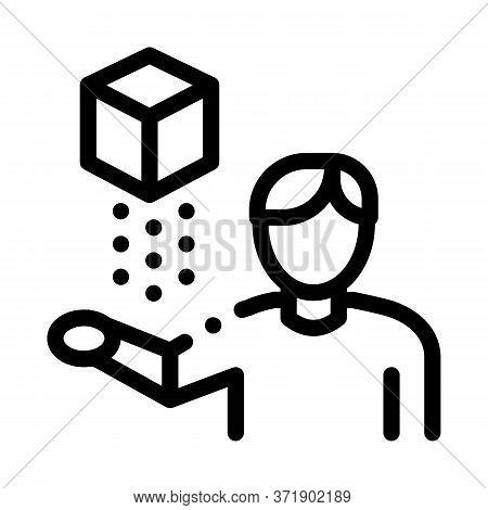 Virtual Reality Representative Icon Vector. Virtual Reality Representative Sign. Isolated Contour Sy
