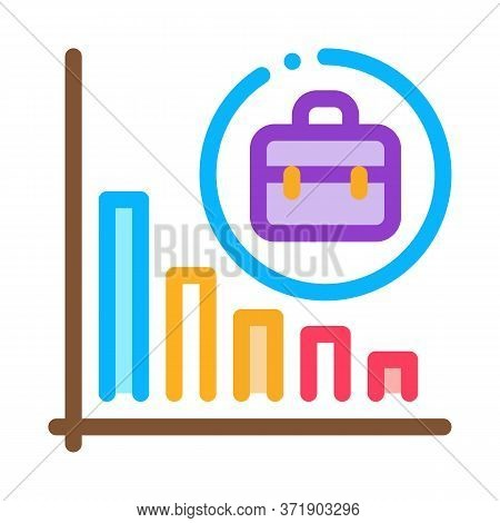 Recession Of Business Job Offers Icon Vector. Recession Of Business Job Offers Sign. Color Symbol Il