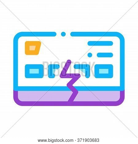 Firm Breakdown Icon Vector. Firm Breakdown Sign. Color Symbol Illustration