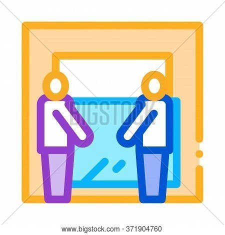 Freight Movers Hold Glass Icon Vector. Freight Movers Hold Glass Sign. Color Symbol Illustration
