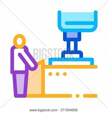 Glass Making Icon Vector. Glass Making Sign. Color Symbol Illustration