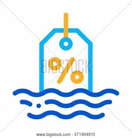 Floating Interest Icon Vector. Floating Interest Sign. Color Symbol Illustration