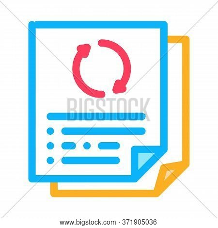 Repeat Funding Document Icon Vector. Repeat Funding Document Sign. Color Symbol Illustration