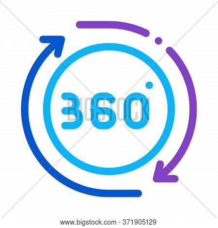 360 Degree View Icon Vector. 360 Degree View Sign. Color Symbol Illustration