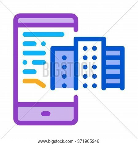 Telephone Mode Of Reality Icon Vector. Telephone Mode Of Reality Sign. Color Symbol Illustration